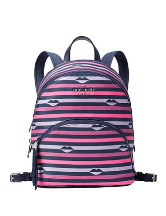 Kate Spade New York Karissa Nylon Lip Print Medium Backpack