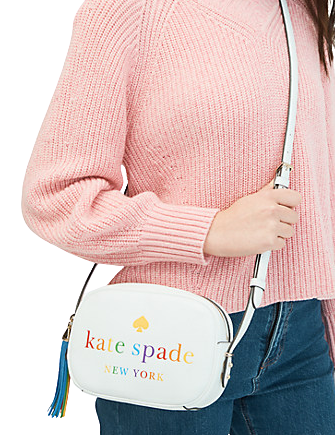 Kate Spade New York Kourtney Rainbow Logo Camera Bag