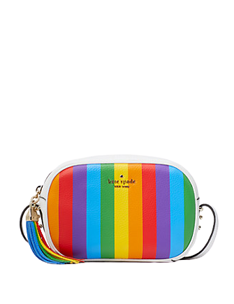 Kate Spade New York Kourtney Rainbow Stripe Camera Bag