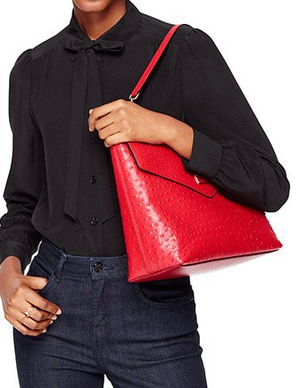 Kate Spade New York La Vita Ostrich Leena Shoulder Bag