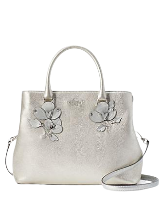 Kate Spade New York Larchmont Avenue Floral Applique Evangelie Satchel