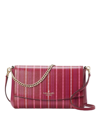 Kate Spade New York Laurel Way Cranberry Hearts Greer Crossbody