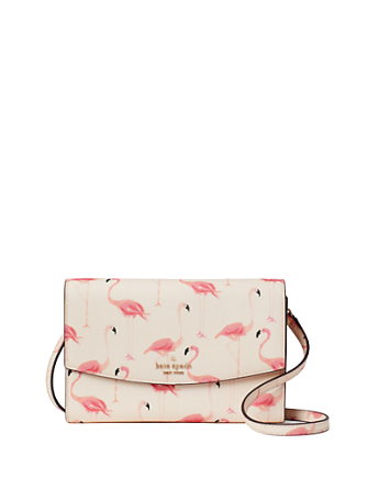 Kate Spade New York Laurel Way Festive Flamingos Winni Crossbody