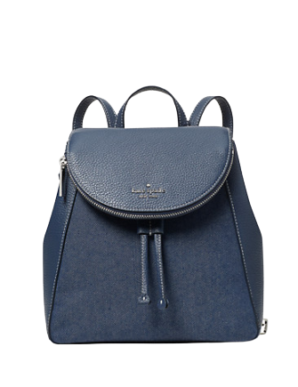 Kate Spade New York Leila Denim Medium Flap Backpack