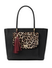 Kate Spade New York Leopard Longacre Court Cal Haircalf Tote