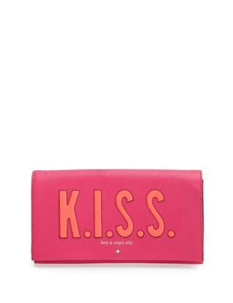 Kate Spade New York Love Birds K.i.s.s. Tally Clutch