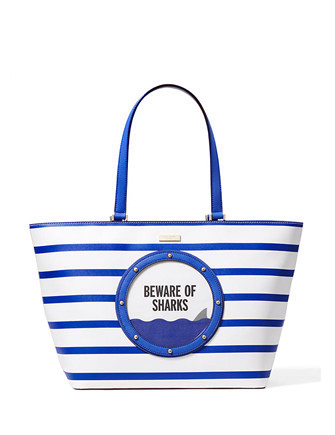 Kate Spade New York Make A Splash Jules Beware Of Sharks Tote