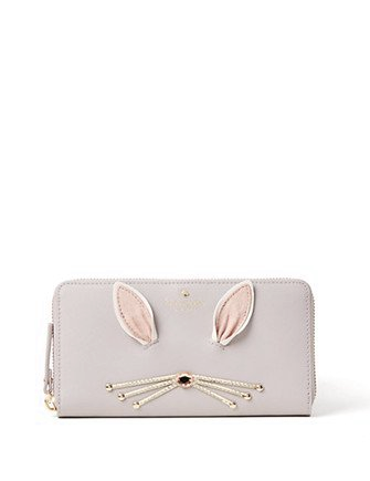 Kate Spade New York Make Magic Fluffy Bunny Lacey Wallet
