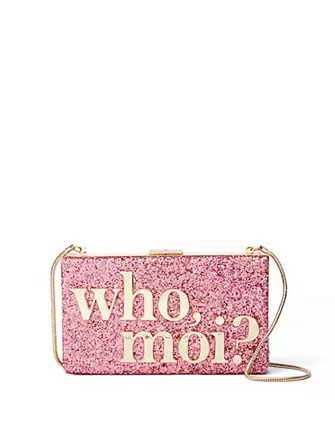 Kate Spade New York Miss Piggy collection Who Moi Clutch