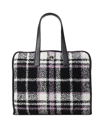 Kate Spade New York Morley Plaid Large Tote