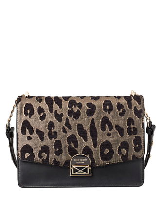Kate Spade New York Neve Ocelot Med Convertible Shoulder Bag