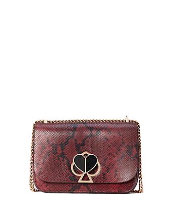 Kate Spade New York Nicola Snake Embossed Twistlock Medium Convertible Shoulder Bag