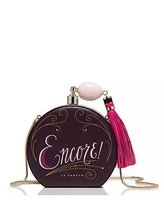 Kate Spade New York On Pointe Round Perfume Bottle Clutch