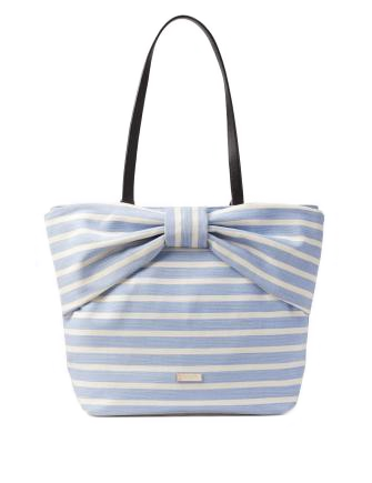 Kate Spade New York On Purpose Sailing Stripe Canvas Bow Tote