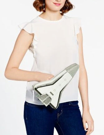 Kate Spade New York Over the Moon Rocket Clutch