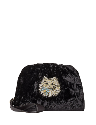 Kate Spade New York Party Velvet Cat Clutch