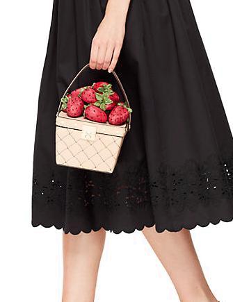 Kate Spade New York Picnic Perfect Woven Leather Basket