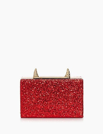 Kate Spade New York Place Your Bets Glitter Ravi Horn Clutch