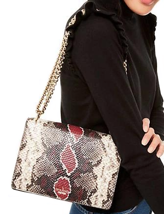 Kate Spade New York Reese Park Snake Embossed Marci Shoulder Bag