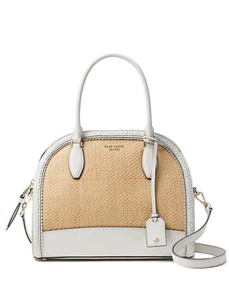 Kate Spade New York Reiley Straw Large Dome Satchel