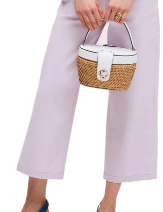 Kate Spade New York Rose Medium Top Handle Basket Bag