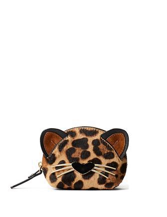 Kate Spade New York Run Wild Leopard Print Dumpling Coin Purse