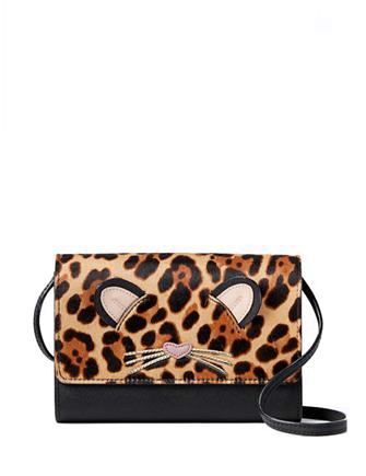 Kate Spade New York Run Wild Summer Leopard Cat Phone Crossbody