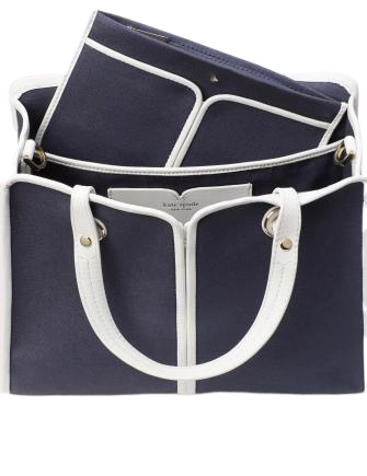 Kate Spade New York Sam Canvas Plunge Medium Satchel