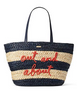Kate Spade New York Shore Thing Out and About Straw Tote