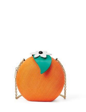 Kate Spade New York Spice Things Up Straw Orange Crossbody