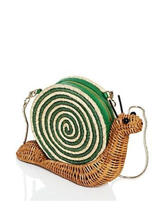 Kate Spade New York Spring Forward Wicker Snail Clutch