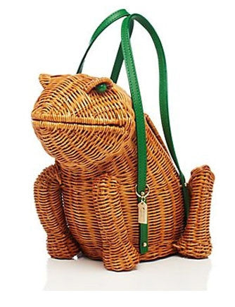Kate Spade New York Spring Forward Wicker Frog Satchel