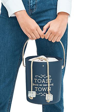 Kate Spade New York Steal The Spotlight Champagne Bucket Bag
