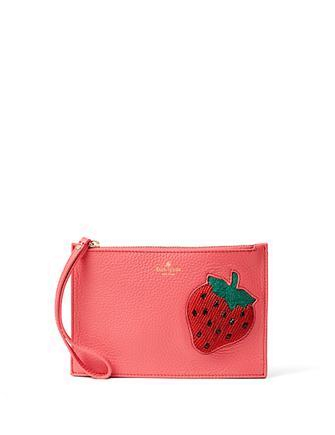 Kate Spade New York Strawberry Mini Leather Wristlet