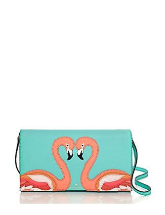 Kate Spade New York Strut Your Stuff Flamingo Cali Crossbody