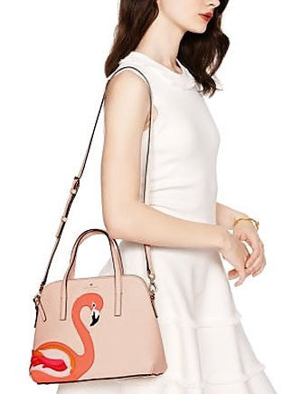 Kate Spade New York Strut Your Stuff Flamingo Maise Satchel