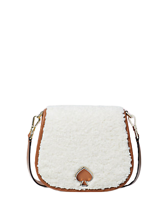 Kate Spade New York Suzy Fluffy Large Saddle Bag