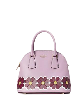 Kate Spade New York Sylvia Graphic Clover Applique Medium Dome Satchel