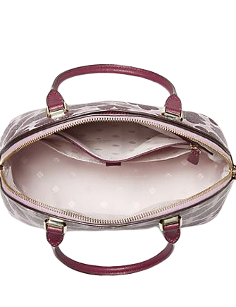 Kate Spade New York Sylvia Graphic Clover Large Dome Satchel