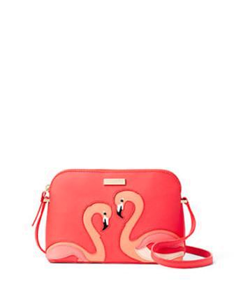 Kate Spade New York Take a Walk On The Wild Side Flamingo Hanna Crossbody