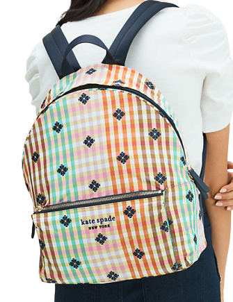 Kate Spade New York The Bella Plaid City Pack Large Backpack