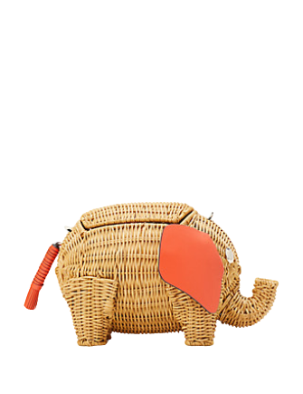 Kate Spade New York Tiny Wicker Large Elephant Crossbody