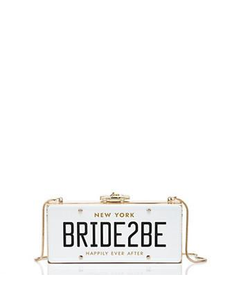 Kate Spade New York Wedding Belles Bride2be License Plate Clutch