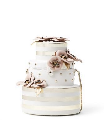 Kate Spade New York Wedding Belles Flower Wedding Cake Bag