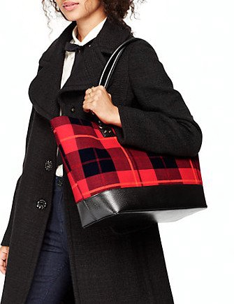 Kate Spade New York Wellesley Plaid Medium Harmony Tote