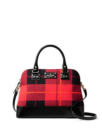Kate Spade New York Wellesley Plaid Small Rachelle Satchel