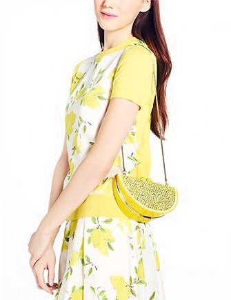Kate Spade New York Via Limoni Lina Rhinestone Lemon Clutch