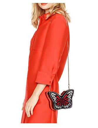 Kate Spade New York Wing It Small Embellished Butterfly Clutch