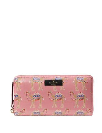Kate Spade New York Daycation Camel Party Neda Wallet