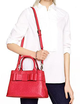 Kate Spade New York Charm City Ostrich Emobossed Provence Satchel